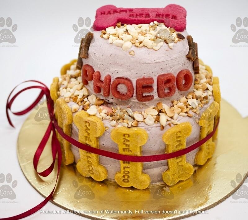 Double Decker Dog Cake