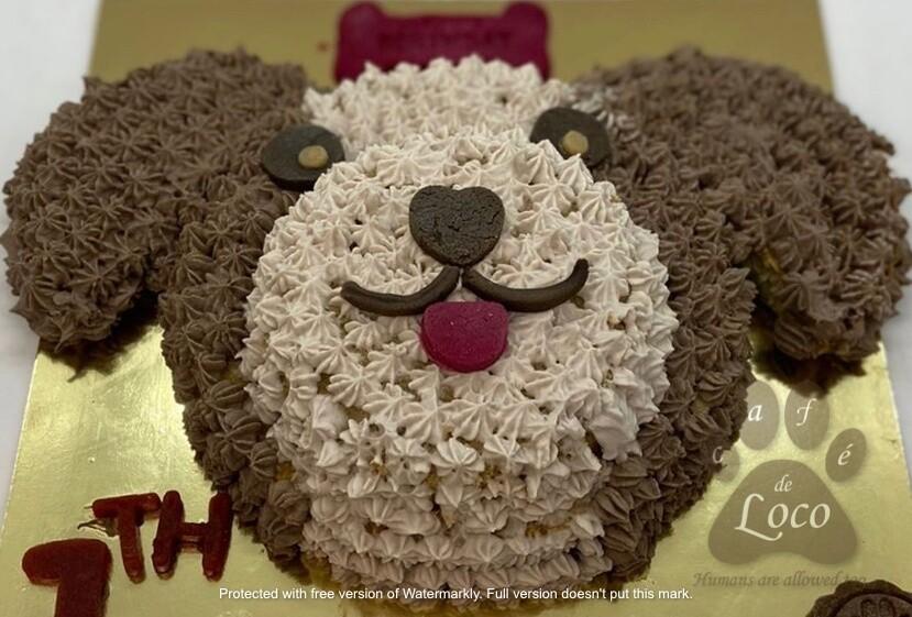 Puppy face Dog Cake