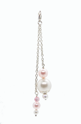 Pink Pearl bag charm