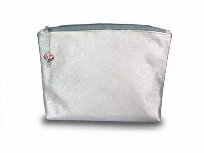 Silver Pouch for Makeup or Handbag organising