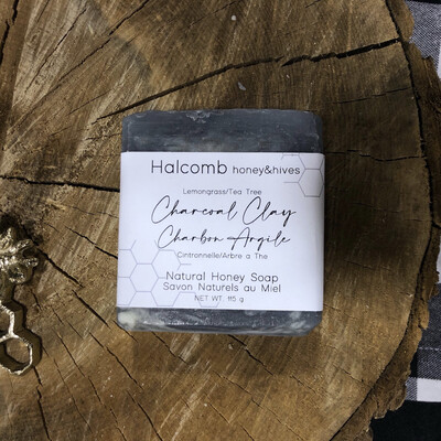 Charcoal Clay Honey Soap