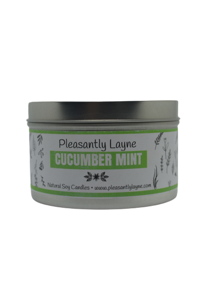 Pleasantly Layne Tin Candle