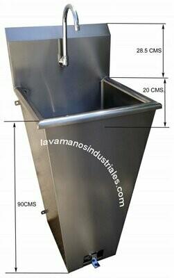 Lavamanos de Pedestal con sistema de pedales LP-50SN