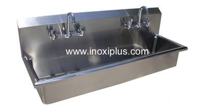 Lavamnos Doble Con LLaves mezcladoras uso Rudo