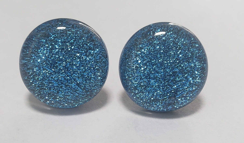 Dichroic glass studs