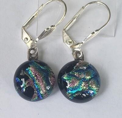 Multi-colored dichroic earrings