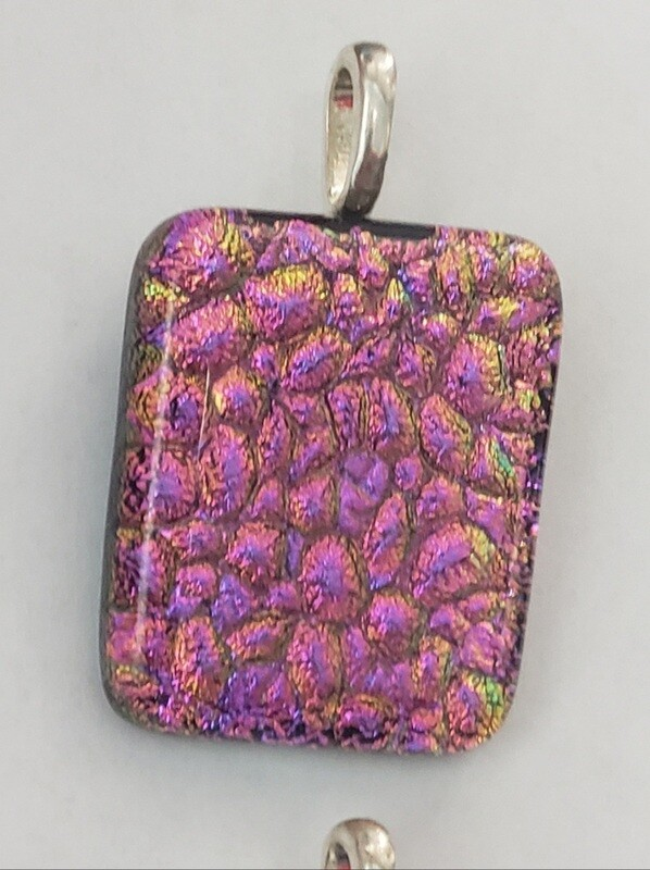 Pink textured pendant