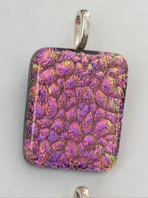 Pink textured pendant