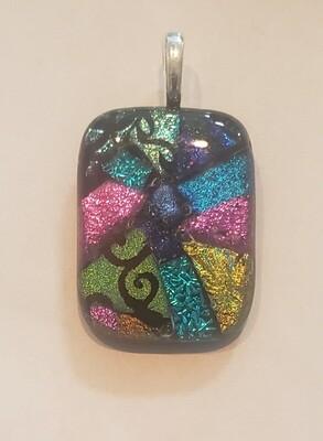 Dichroic Glass Mosaic Pendant