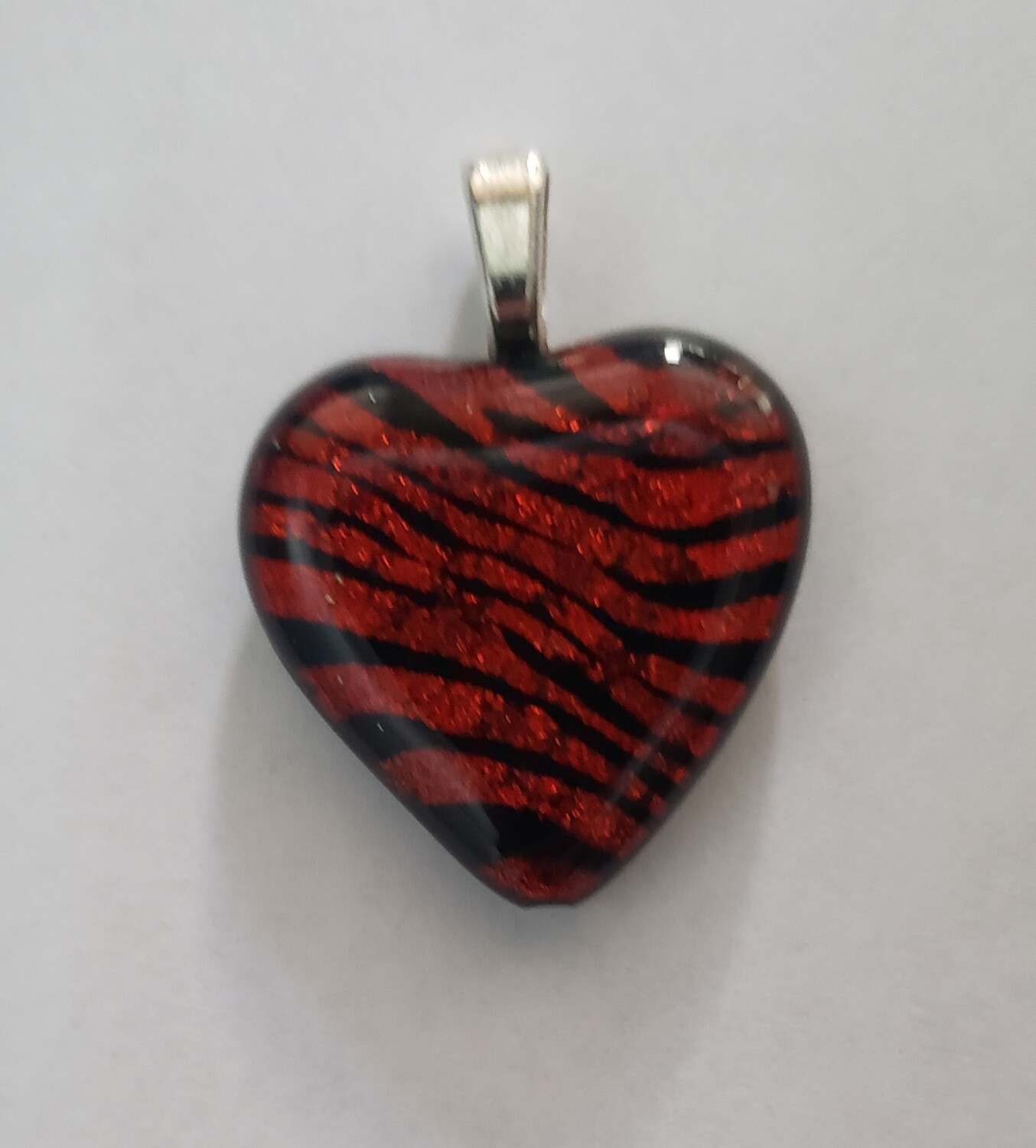 Etched  Heart Pendant