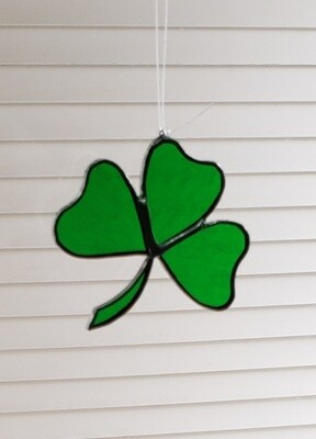 Stained glass shamrock suncatcher
