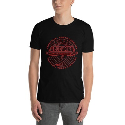 UpCountry Red Logo on Black T-Shirt