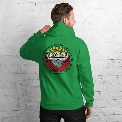 Full Color Upcountry Brewing Logo on Various Color Hoodies