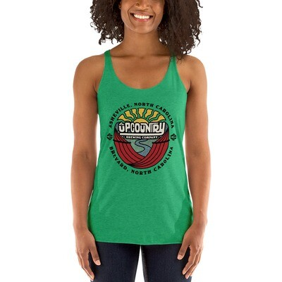Women's Racerback Tank Top w/ UpCountry Brewing Sunmark Logo