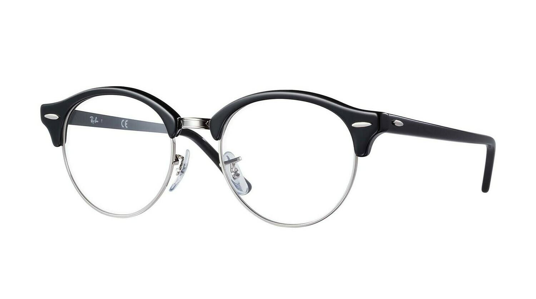 Ray Ban RX4246v Clubround Black Glasses
