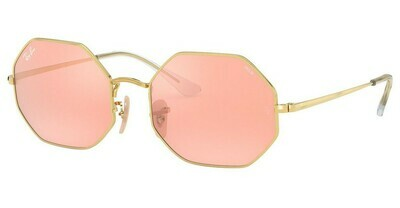 Ray Ban RB1972 Octagon Gold/Pink Mirror Grey Sunglasses