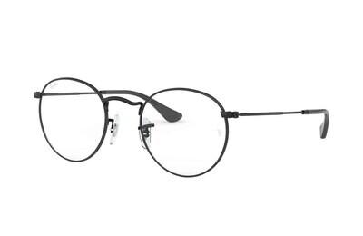 Ray Ban RX3447V Round Metal Matte Black Glasses