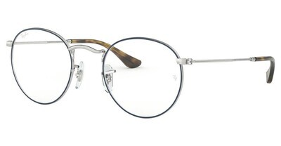 Ray Ban RX3447V Round Metal Blue/Silver Glasses
