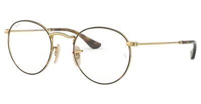 Ray Ban RX3447V Round Metal Havana Glasses