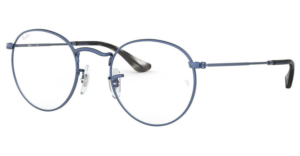 Ray Ban RX3447V Round Metal Sand Transparent Blue Glasses