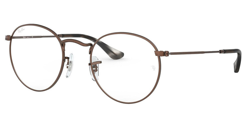 Ray Ban RX3447V Round Metal Sand Transparent Brown Glasses