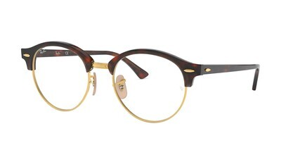 Ray Ban RX4246v Clubround Red Havana Glasses