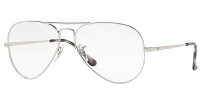 Ray Ban RX6489 Aviator Silver Glasses