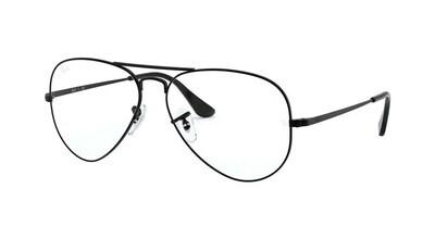 Ray Ban RX6489 Aviator Matte Black Glasses