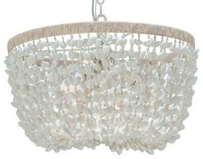 Inverted Pendant Lamp, Bubble Shell, White
