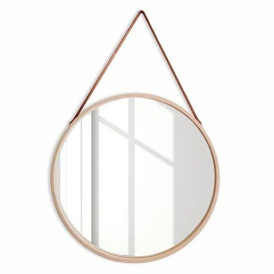 Large Birch Frame Mirror w/ Leather Strap