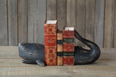 Resin Whale Bookends, Set
