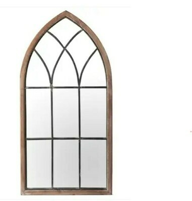 Wood Framed Cathedral Mirror