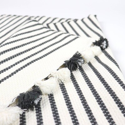Bath Mat-black stripes