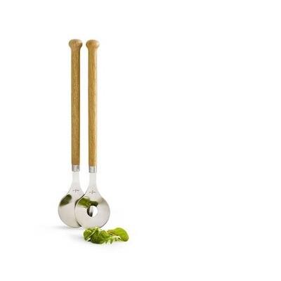 Oak Salad Utensils