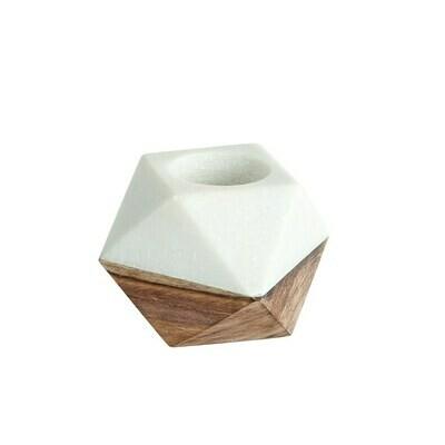 Marble & Wood Tealight Holder