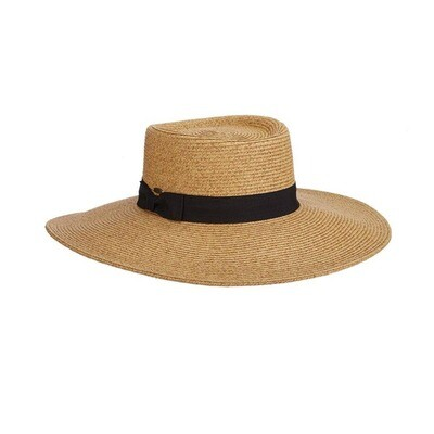 Scala Straw Boater - Toast
