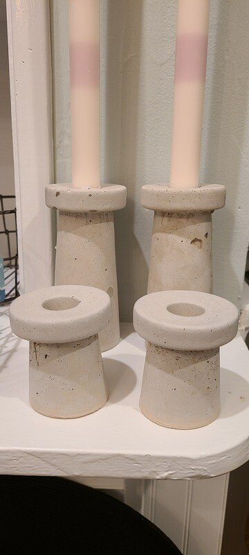 Small Concrete Candle Holder