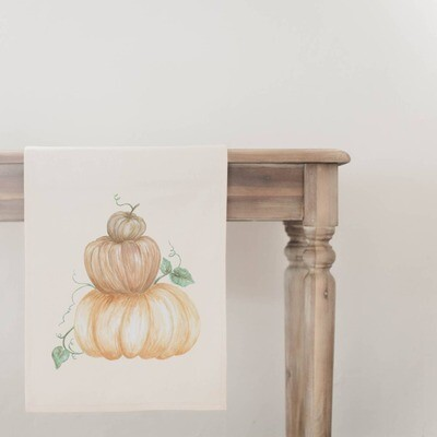 Pumpkin Stack Table Runner - Natural