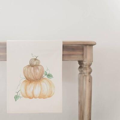 Pumpkin Stack Table Runner - Natural