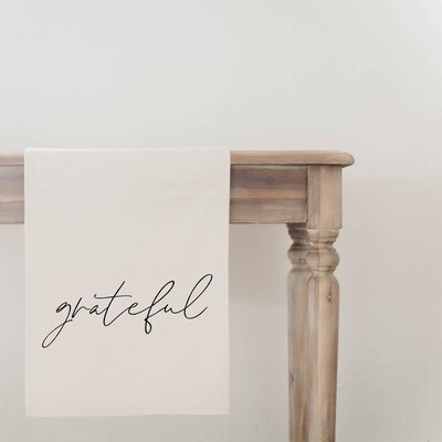 Grateful Table Runner- Natural