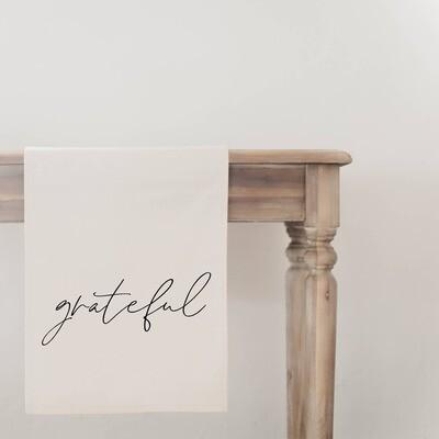 Grateful Table Runner- Natural