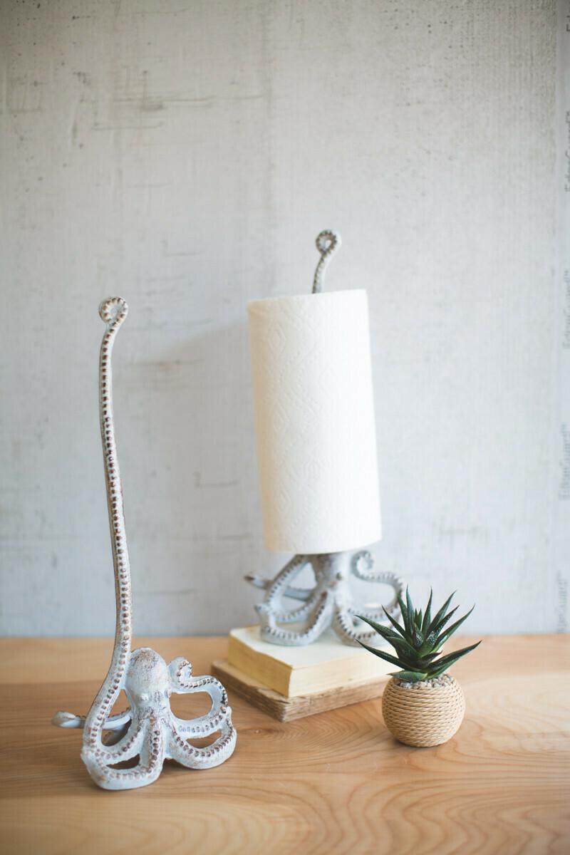 Cast Iron Octopus Paper Towel Holder