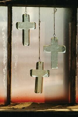 Glass Cross Suncatcher
