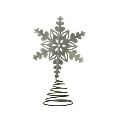 Galvanized Metal Snowflake Topper
