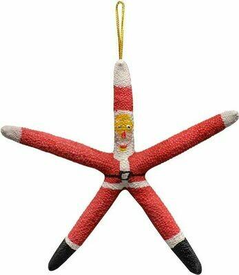 Santa Finger Starfish Ornament