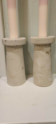 Tall Concrete Candle Holder