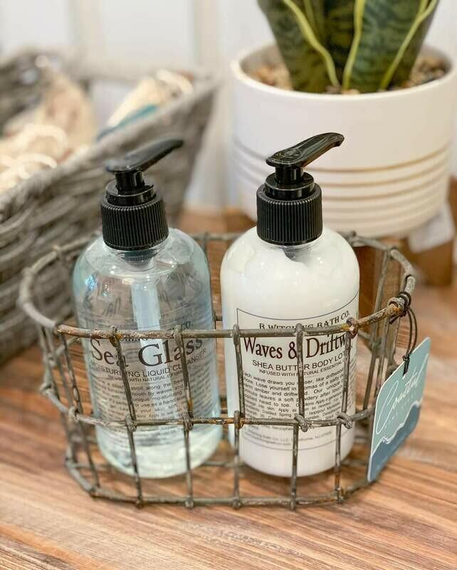 Wire Basket Lotion/Soap Bottle Holder