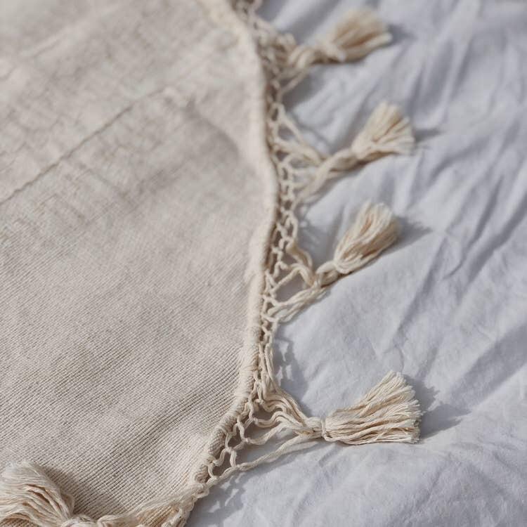 Hand Loomed Cream Tree Skirt