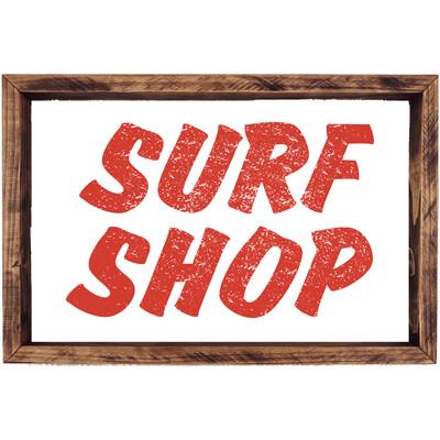 Surf Shop Wood Sign