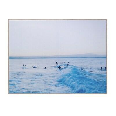 Framed Canvas w/ Surf Scene